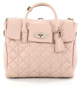 Mulberry Pre-owned: Cara Delevingne Convertible Backpack Quilted Leather Medium.