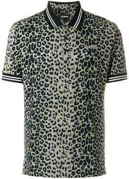 Les Hommes leopard print polo top