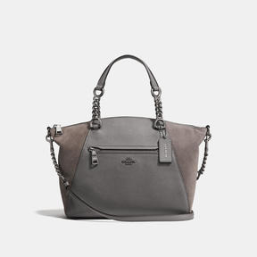 COACH Coach Chain Prairie Satchel - DARK GUNMETAL/HEATHER GREY - STYLE