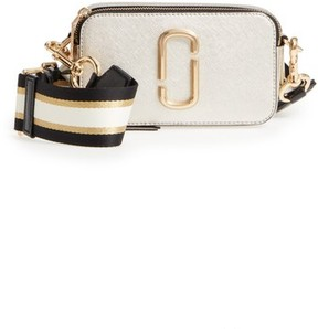 Marc Jacobs Snapshot Leather Crossbody Bag - Metallic