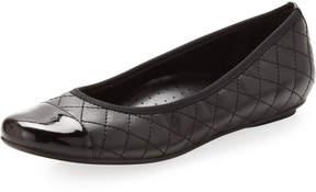 Neiman Marcus Saucy Quilted Ballerina Flat, Black