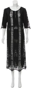 Figue Corrine Guipure Lace-Accented Maxi Dress