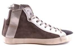 Philippe Model Women's Silver/brown Suede Hi Top Sneakers.