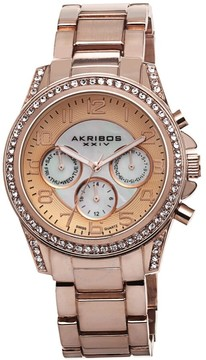 Akribos XXIV Rose Gold-Tone Ladies Watch