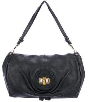 Nina Ricci Leather Turn-lock Hobo