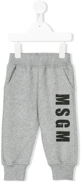 MSGM logo print jogging trousers