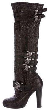 Thomas Wylde Skull-Embellished Leather Boots