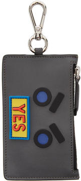 Fendi Grey Yes Coin Pouch