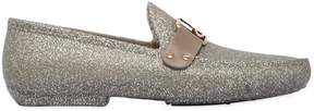 Vivienne Westwood Gold Glitter Rubber Loafers