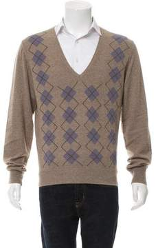 Bottega Veneta Cashmere Argyle Sweater