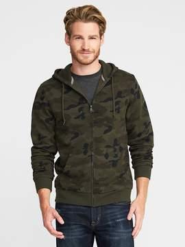 Old Navy Camo Full-Zip Fleece Hoodie for Men