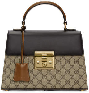 Gucci Beige Small GG Supreme Padlock Bag
