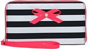 FingerPaints Black & White Stripe Wristlet Wallet