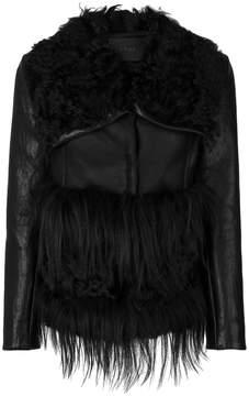 Drome furry appliques jacket