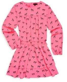 Imoga Toddler's, Little Girl's & Girl's Zebra-Print Dress