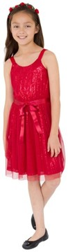 Blush by Us Angels Girl's Sequin Tulle Dress