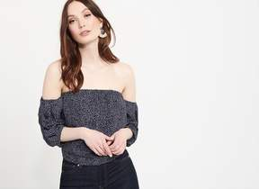 Dynamite Off-The-Shoulder Crop Top