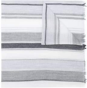 Salvatore Ferragamo striped frayed scarf