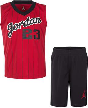 Jordan Little Boys 2-Pc. 23-Print Tank & Shorts Set