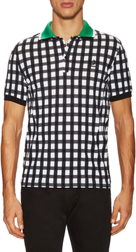 Fred Perry Men's Gingham Fade Pique Polo