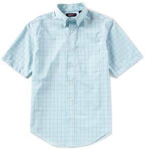Roundtree & Yorke TravelSmart Short-Sleeve Plaid Sportshirt