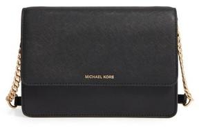 MICHAEL Michael Kors Large Daniela Leather Crossbody Bag - Black