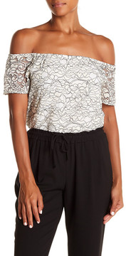 WAYF Off-the-Shoulder Lace Blouse