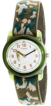 Timex Boy's Kids T78141 Green Cloth Quartz Fashion Watch