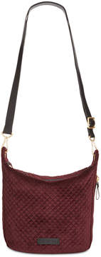 Vera Bradley Carson Velvet Small Hobo Crossbody - CHOCOLATE RAISIN - STYLE
