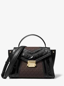 MICHAEL Michael Kors Whitney Medium Logo and Leather Satchel