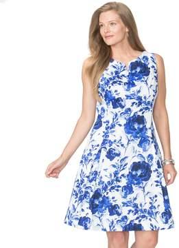 Chaps Plus Size Floral Fit & Flare Dress