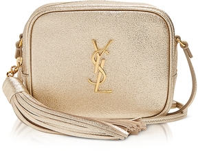Saint Laurent Gold Leather Blogger Shoulder Bag - GOLD - STYLE