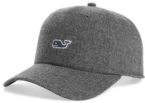 Vineyard Vines Men's Wool Blend Baseball Cap - Grey