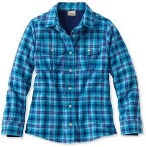 L.L. Bean L.L.Bean Girls' Fleece-Lined Flannel Shirt, Plaid