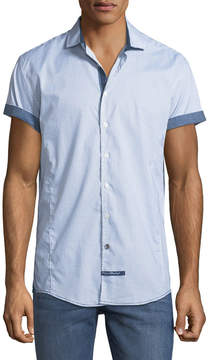 English Laundry Classic-Fit Micro-Bow Short-Sleeve Sport Shirt