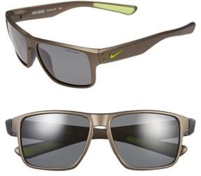 Nike 'Mavrk' 59Mm Sunglasses - Anthracite/ Volt/ Grey Polar