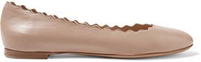 Chloé Lauren Scalloped Leather Ballet Flats - Blush