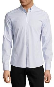 Black & Brown Black Brown Slim-Fit Pinstripe Button-Down Shirt