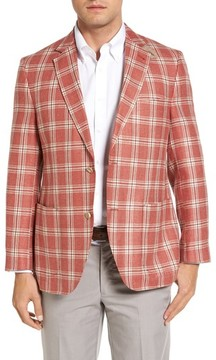 Kroon Men's Bono 2 Classic Fit Plaid Silk Blend Sport Coat
