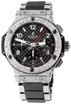 Hublot Big Bang 301.SB.131.SB Black Carbon Pattern Dial Steel Ceramic Mens Watch