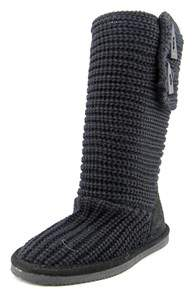 BearPaw Knit Tall Round Toe Canvas Winter Boot.