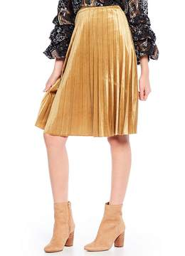 Chelsea & Violet Velvet Pleated Skirt