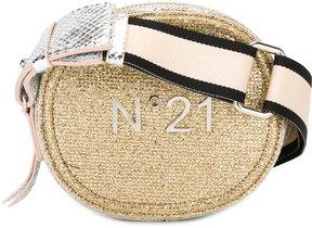 No21 logo plaque shoulder bag
