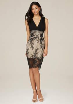 Bebe Georgette & Lace Dress
