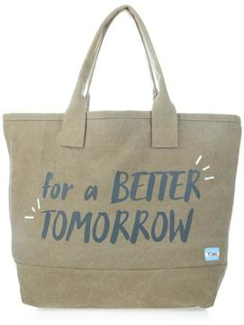Toms All Day Canvas Quote Tote
