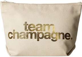 Dogeared - Team Champagne Gold Foil Lil Zip Cosmetic Case