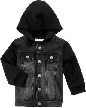 First Impressions Hooded Layered-Look Denim Jacket, Baby Boys (0-24 months), Created for Macy's