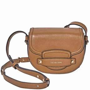 Michael Kors Cary Small Leather Saddle Bag- Acorn