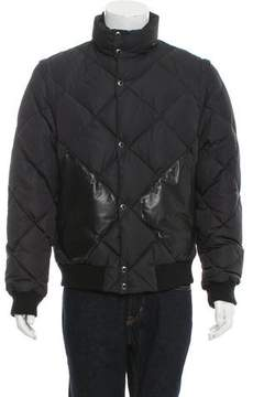 Louis Vuitton Leather-Trimmed Puffer Jacket