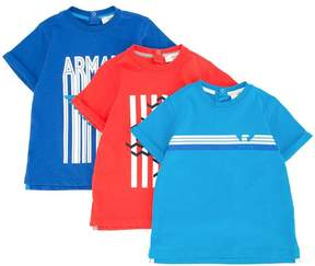 Emporio Armani Kids logo print T-shirt set